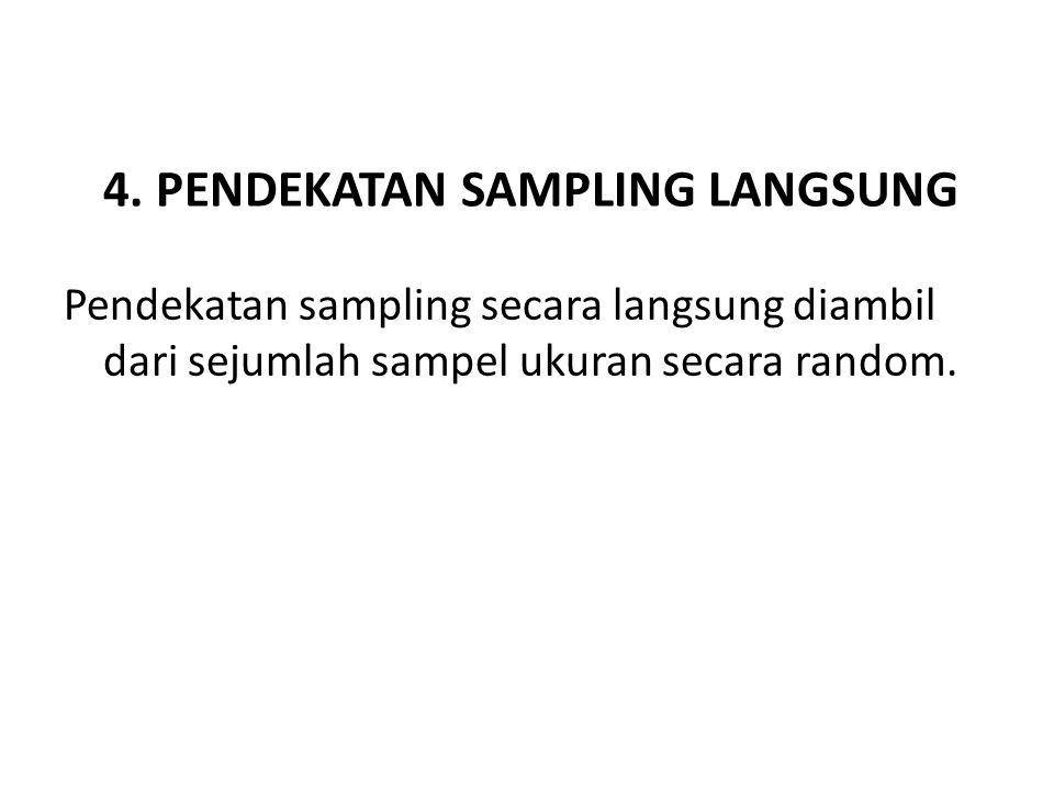 4. PENDEKATAN SAMPLING LANGSUNG Pendekatan sampling secara langsung diambil dari sejumlah sampel ukuran secara random.