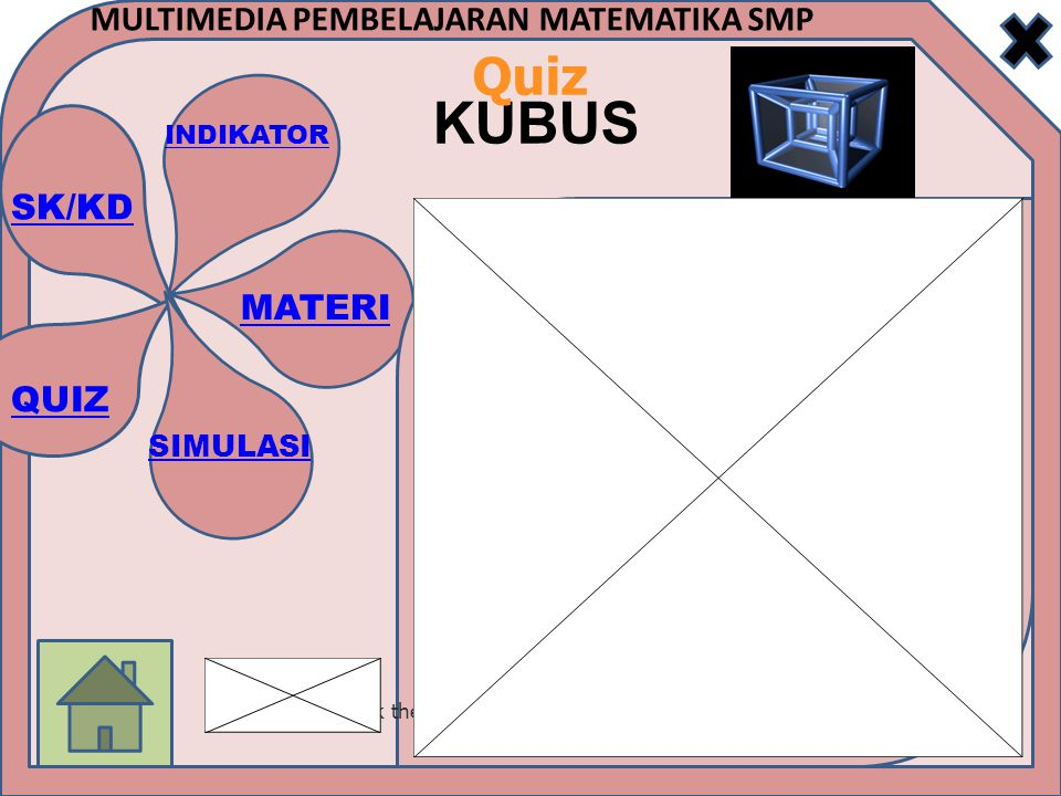 SK/KD INDIKATOR MATERI SIMULASI QUIZ MULTIMEDIA PEMBELAJARAN MATEMATIKA SMP KUBUS Quiz Click the Quiz button to edit this quiz
