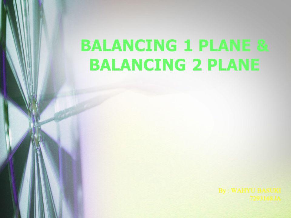 BALANCING 1 PLANE & BALANCING 2 PLANE By : WAHYU BASUKI 7293168 JA