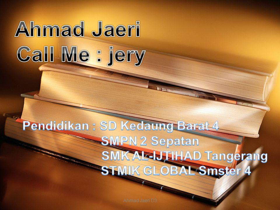 Ahmad Jaeri D3