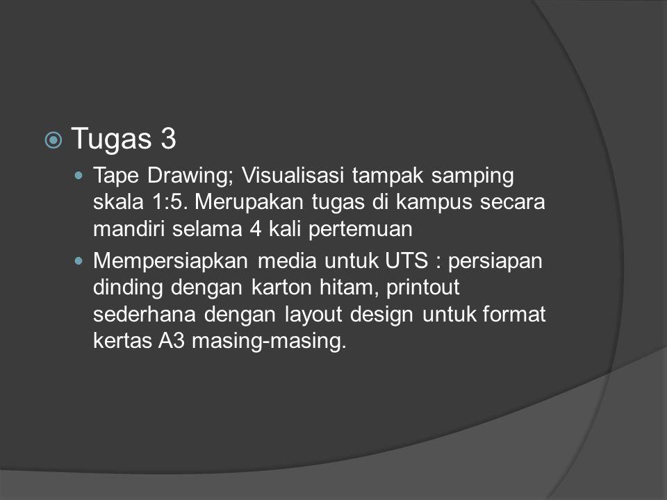  Tugas 3 Tape Drawing; Visualisasi tampak samping skala 1:5.