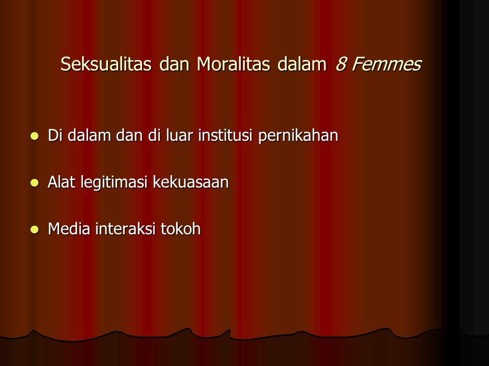 Seksualitas dan Moralitas dalam 8 Femmes Di dalam dan di luar institusi pernikahan Di dalam dan di luar institusi pernikahan Alat legitimasi kekuasaan