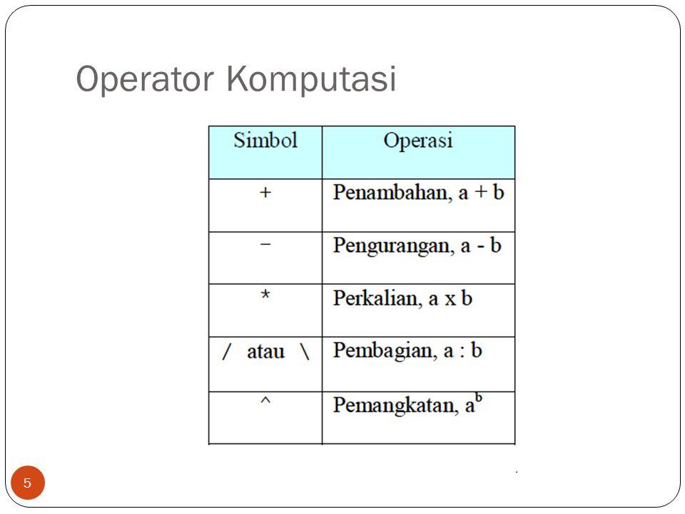 Input dan Output Variabel = input ('nilai yang dimasukkan = '); Menampilkan hasil, nilai variabel atau keterangan pada saat program dijalankan dapat menggunakan salah satu dari fungsi dibawah ini.