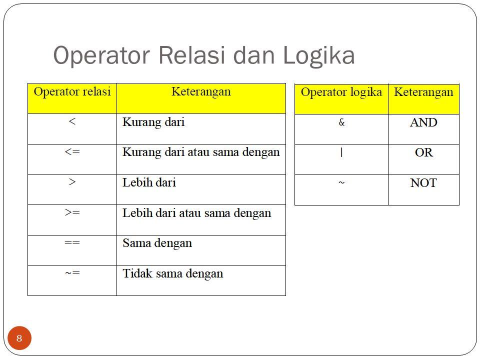 Operator Relasi dan Logika 8