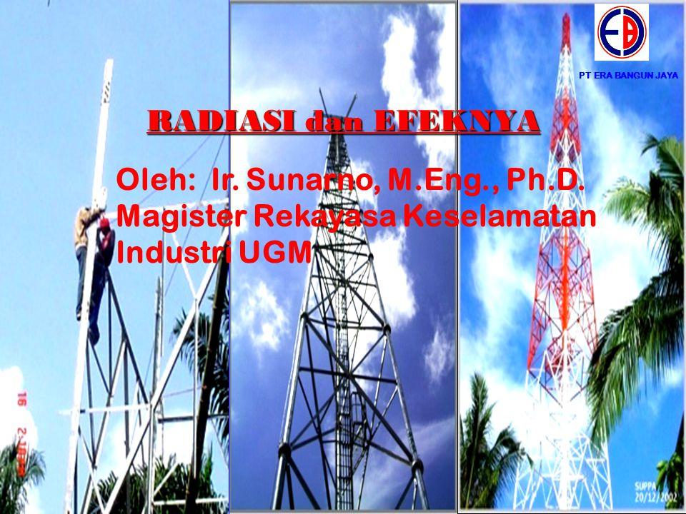 PT ERA BANGUN JAYA RADIASI dan EFEKNYA Oleh: Ir. Sunarno, M.Eng., Ph.D. Magister Rekayasa Keselamatan Industri UGM