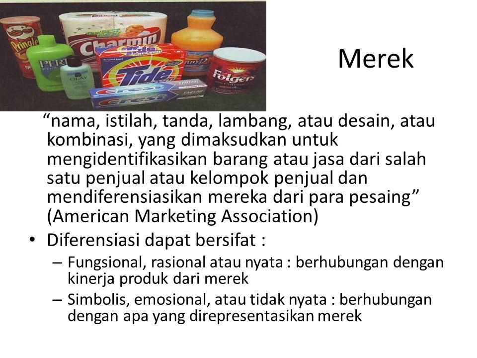 """nama, istilah, tanda, lambang, atau desain, atau kombinasi, yang dimaksudkan untuk mengidentifikasikan barang atau jasa dari salah satu penjual atau"