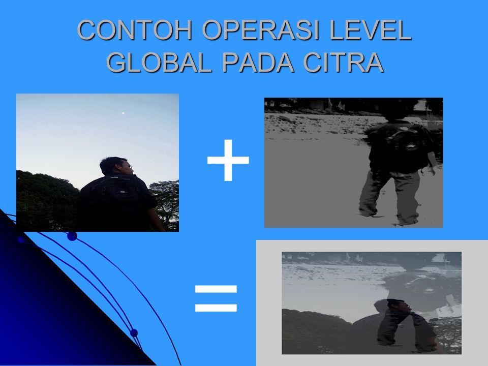 CONTOH OPERASI LEVEL GLOBAL PADA CITRA + =