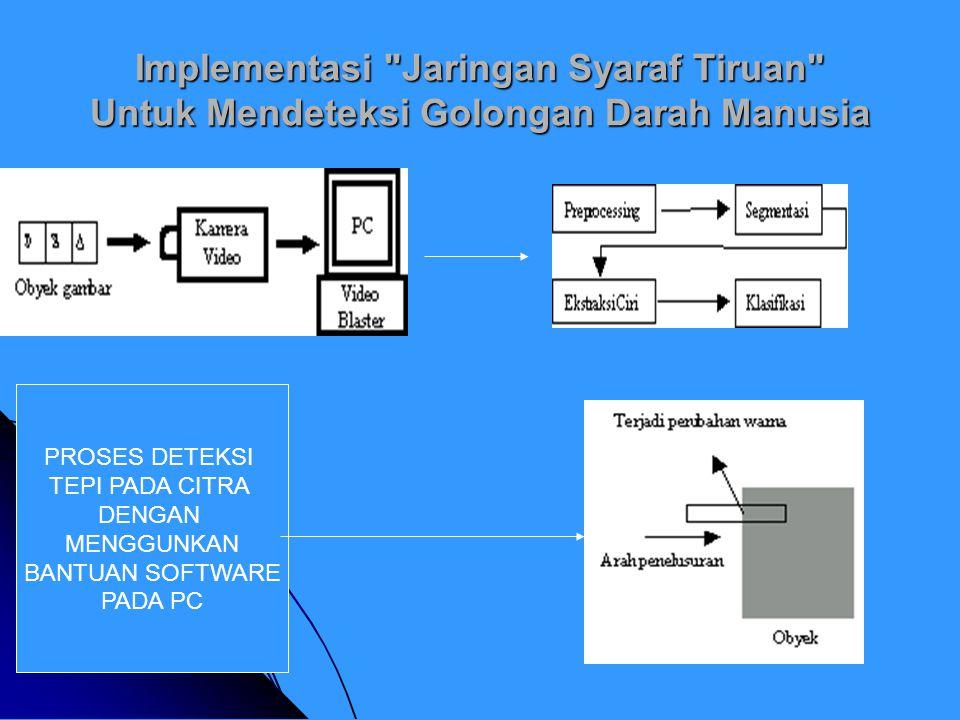 Implementasi Jaringan Syaraf Tiruan Untuk Mendeteksi Golongan Darah Manusia PROSES DETEKSI TEPI PADA CITRA DENGAN MENGGUNKAN BANTUAN SOFTWARE PADA PC