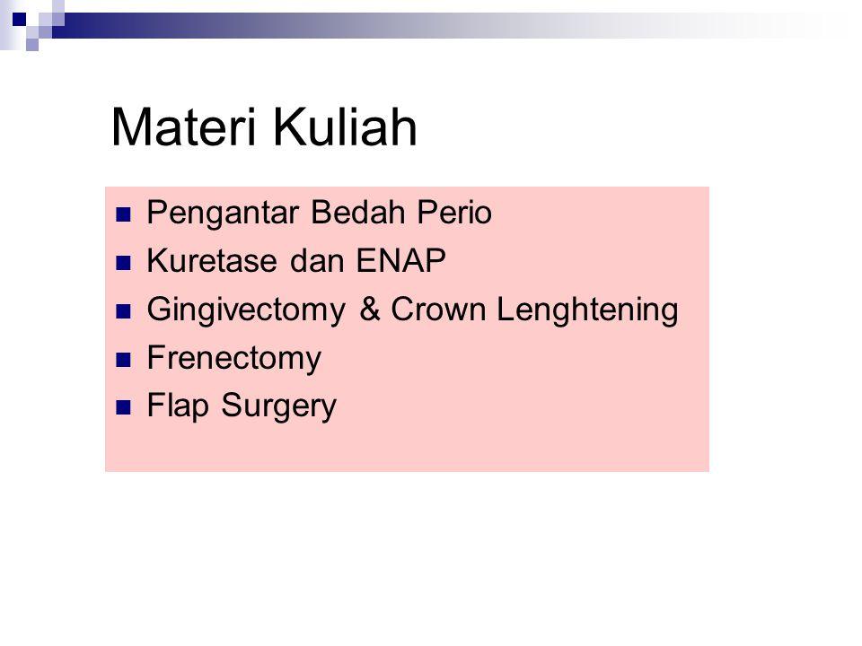 Definisi Kuretase (curretage) - scraping - pengerukan - pengkuretan Membuang dinding poket yg mengalami granulasi/fibroblastik/angioblastik dan inflamasi.