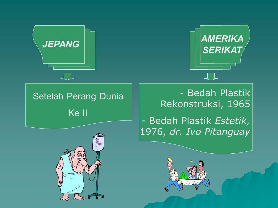 AMERIKA SERIKAT JEPANG Setelah Perang Dunia Ke II - Bedah Plastik Rekonstruksi, 1965 - Bedah Plastik Estetik, 1976, dr. Ivo Pitanguay
