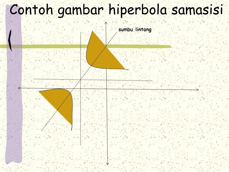 Contoh gambar hiperbola samasisi sumbu lintang