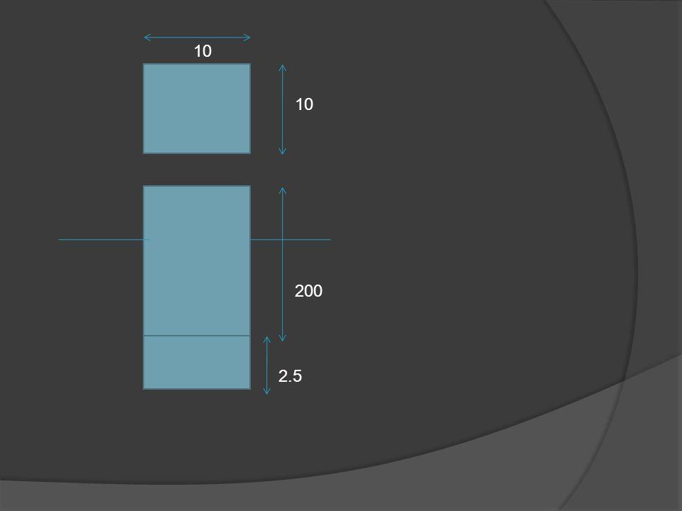 Selidiki stabilitas benda Penyelesaian: Stabilitas benda terapung S1=0.5→ ῤ 1=0.5x1000=500Kg/m S2=8.0→ ῤ 2=8.0x1000=8000Kg/m Panjang benda dengan rapat massa ῤ 1:L1=200-2.5cm=197.5cm