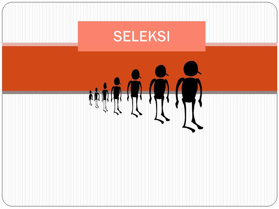 Metoda Seleksi 12 Metoda Non-Ilmiah Seleksi tidak didasarkan pada kriteria, standar atau spesifikasi kebutuhan nyata jabatan, tetapi hanya berdaasarkan perkiraan dan pengalaman saja