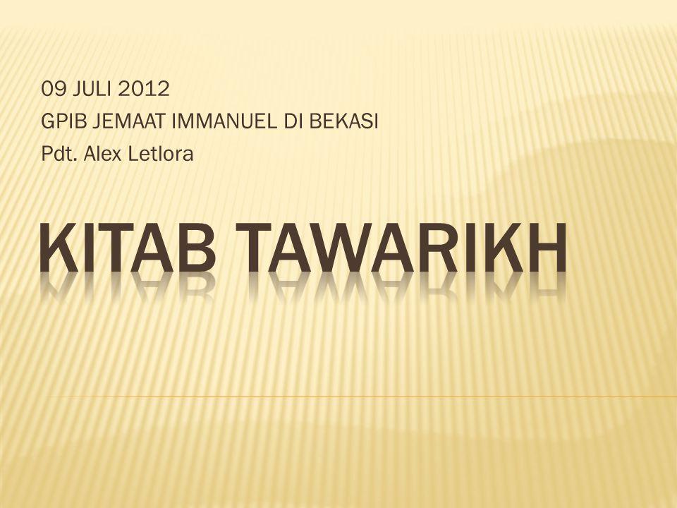 09 JULI 2012 GPIB JEMAAT IMMANUEL DI BEKASI Pdt. Alex Letlora