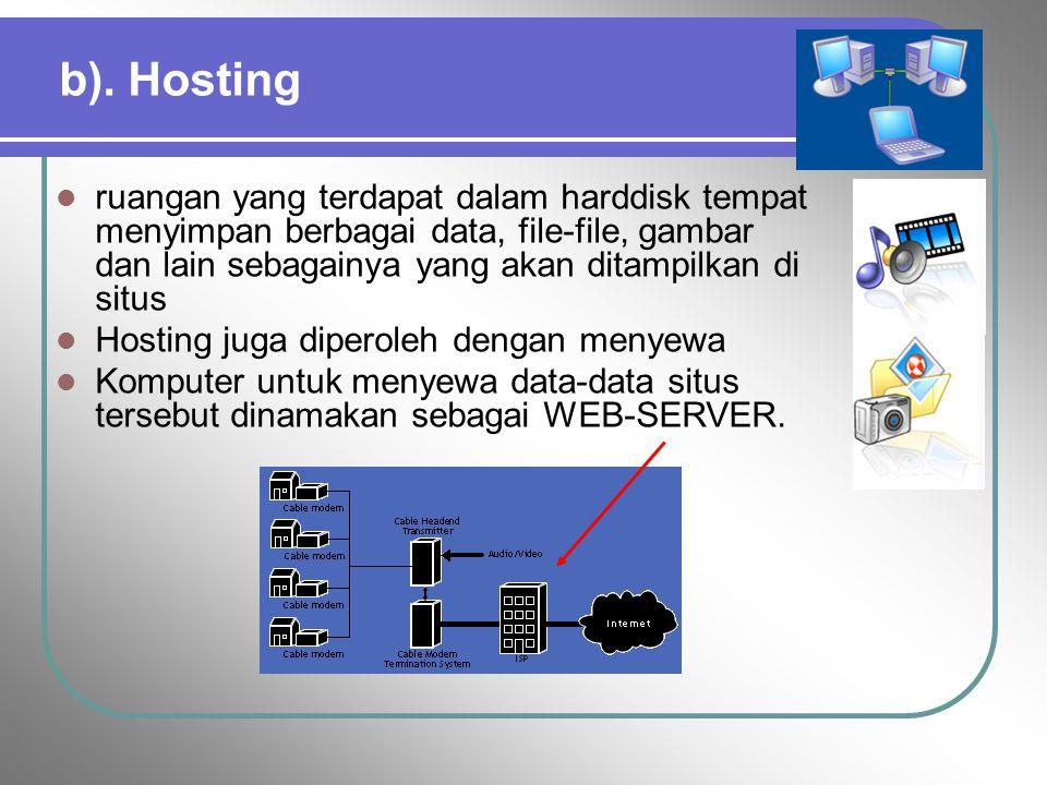 2. Country-Specific Domains (ccTLDs ) Sering disebut sebagai second level id.id (Indonesia),.au (Australia),.jp (Jepang) dll Ø.co.id Ø.ac.id Ø.go.id Ø