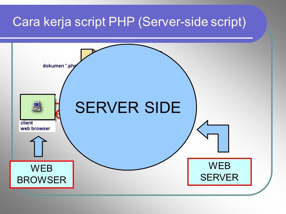c. Script/bahasa program Script adalah bahasa yang digunakan untuk menerjemahkan setiap perintah dalam situs yang pada saat diakses. Jenis scripts san