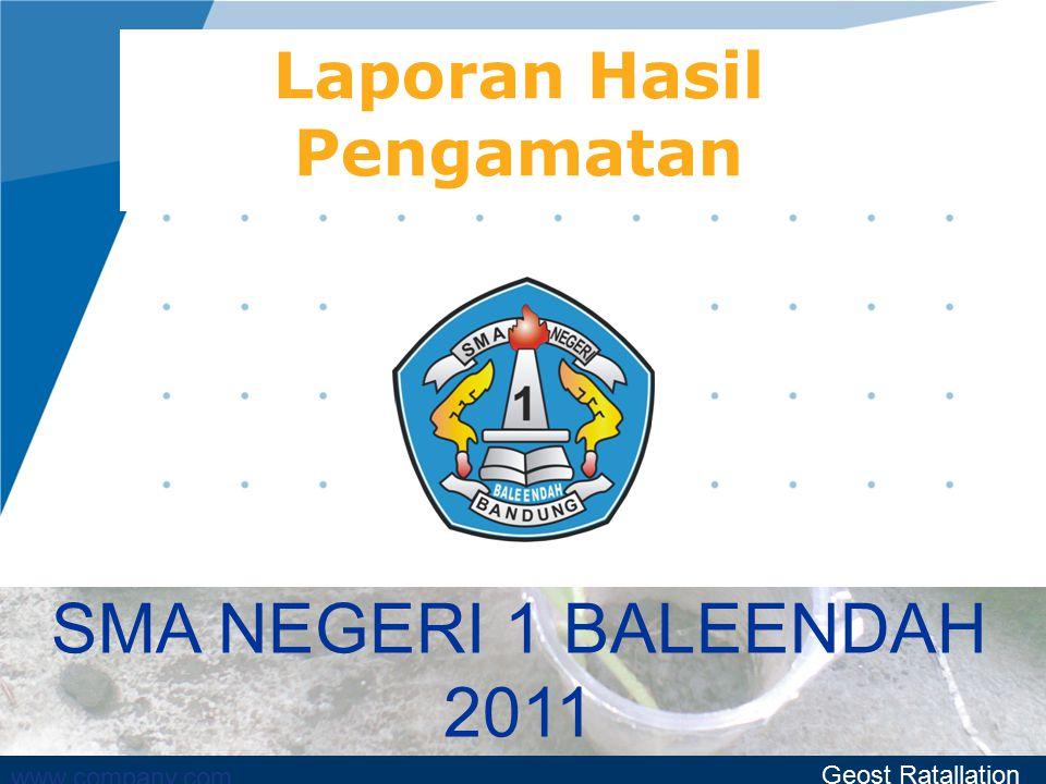 www.company.com Laporan Hasil Pengamatan SMA NEGERI 1 BALEENDAH 2011 Geost Ratallation