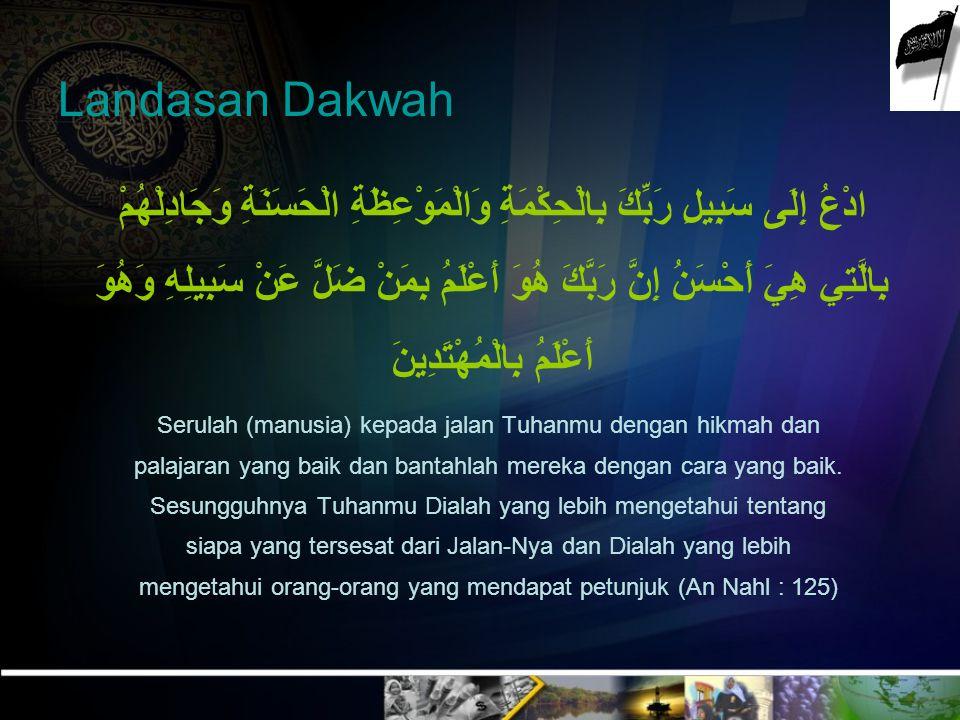 Islam didakwahkan ke tengah-tengah masyarakat sebagai idelogi tanpa kekerasan dan diterapkan sebagaimana dicontohkan Rasulullah saw….!!.