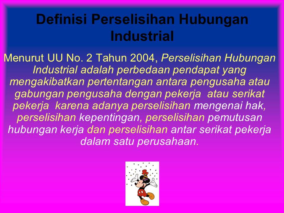 Definisi Perselisihan Hubungan Industrial Menurut UU No.