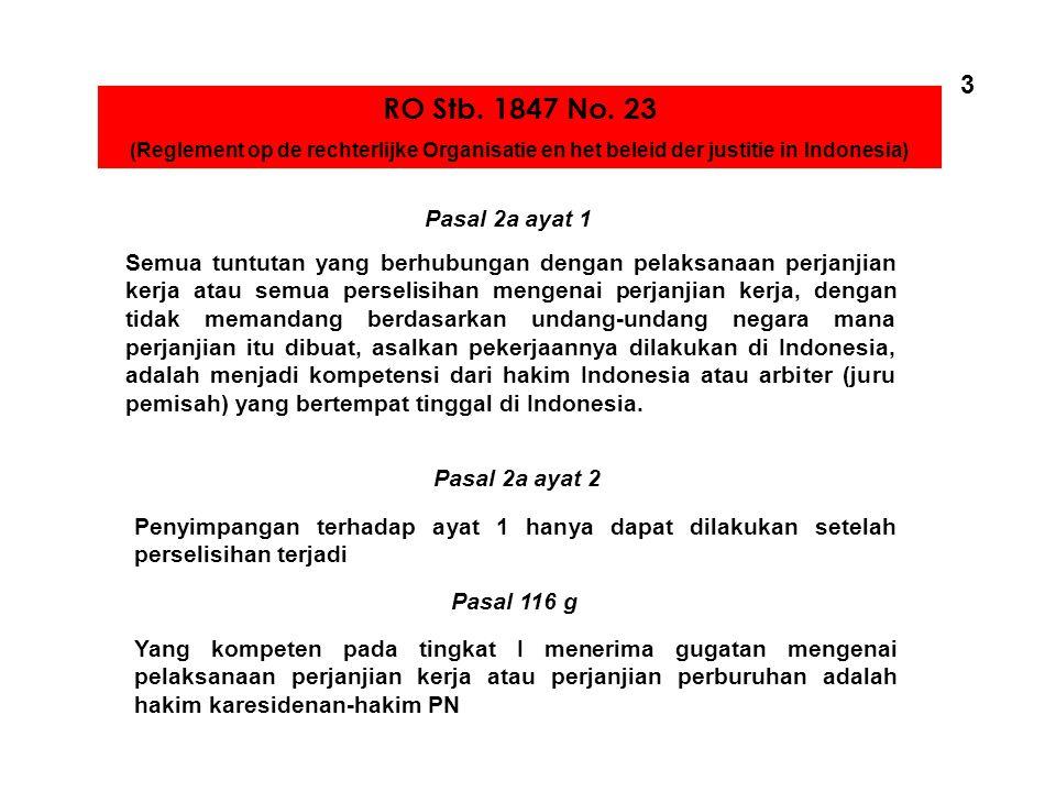 Dasar Hukum RO Stb. 1847 No. 23 UU No. 13 Thn 2003 UU No. 2 Thn 2004 PP No. 8 Thn 1981 Kepmen No. 100 Thn 2004 UU No. 22 Thn 1957 Kepmen No. 15A Thn 1