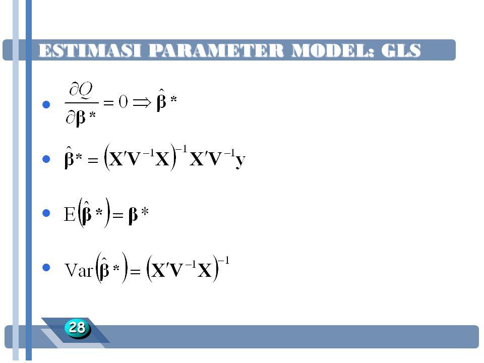 ESTIMASI PARAMETER MODEL: GLS 2828 l l l l l l l l l l l l l l l l