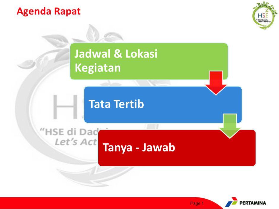 Agenda Rapat Page 1 Jadwal & Lokasi Kegiatan Tata TertibTanya - Jawab