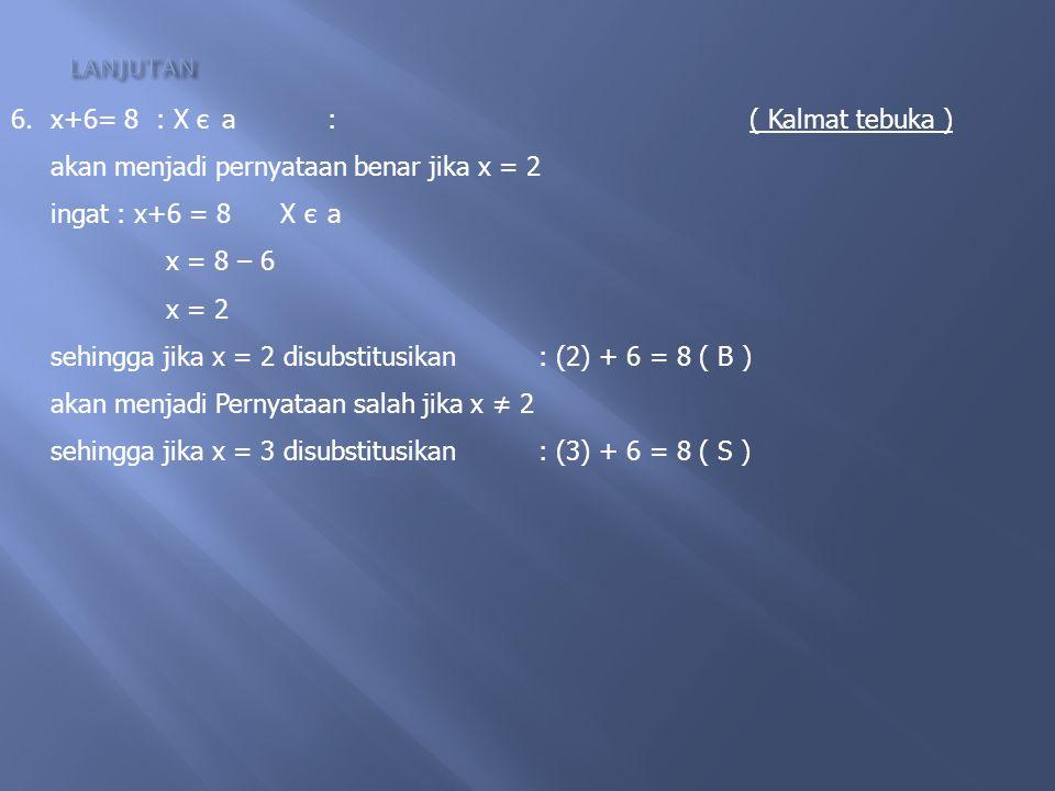 TENTUKAN MANAKAH YANG MERUPAKAN PERNYATAAN BUKAN PERNYATAAN DAN KALIMAT TERBUKA 1.111 habis dibagi 3: 2.3 merupakan bilangan ganjil: 3.Tutuplah pintu
