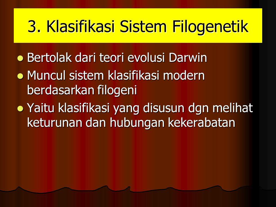 F.PERKEMBANGAN KLASIFIKASI FILOGENETIK a.