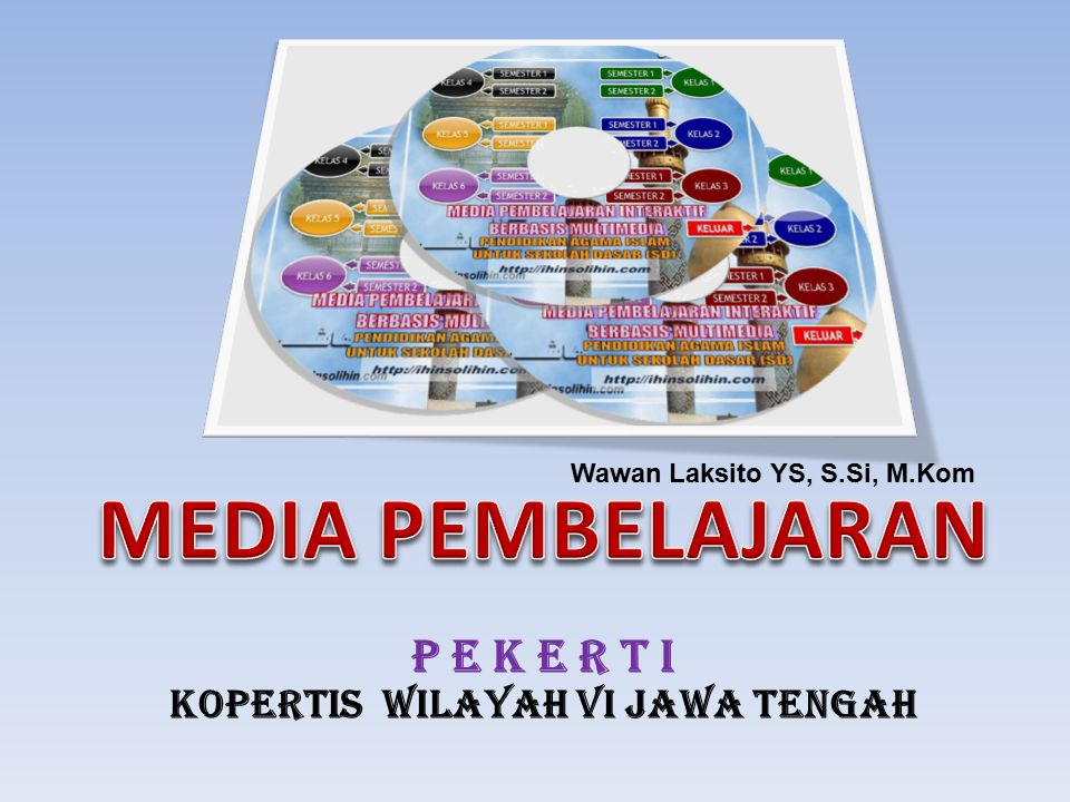 STANDAR KOMPETENSI Dapat mendesain media Pembelajaran dengan Software Presentasi KOMPETENSI DASAR 1.Menjelaskan makna media 2.Menjelaskan peran media dalam proses pembelajaran 3.Menyebutkan macam-macam media menurut penggolongan 4.Menjelaskan kriteria pemilihan media 5.Membuat satu set rancangan slide presentasi dengan Software Presentasi 2