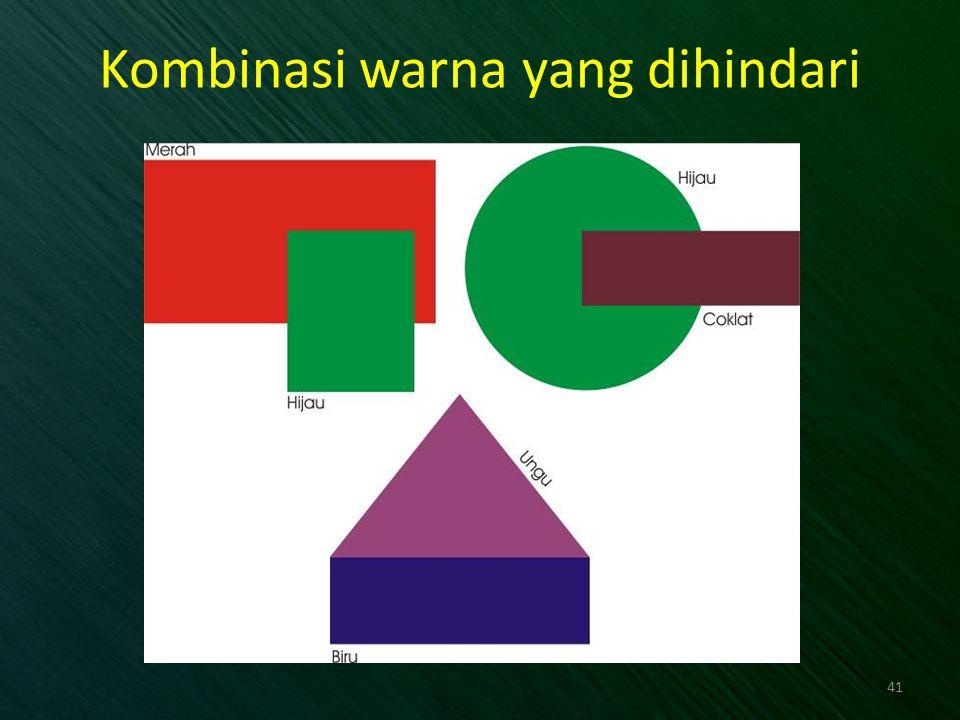 Kombinasi warna yang dihindari 41