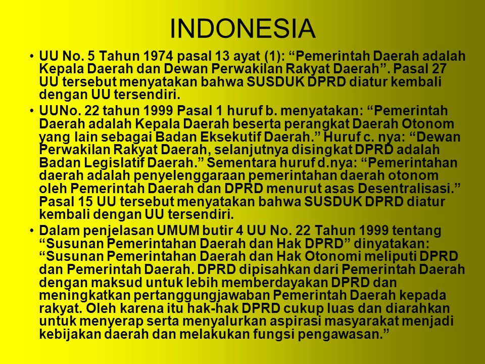 INDONESIA UU No.