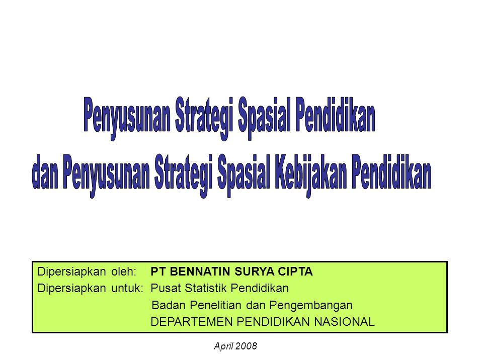 Dipersiapkan oleh: PT BENNATIN SURYA CIPTA Dipersiapkan untuk: Pusat Statistik Pendidikan Badan Penelitian dan Pengembangan DEPARTEMEN PENDIDIKAN NASI