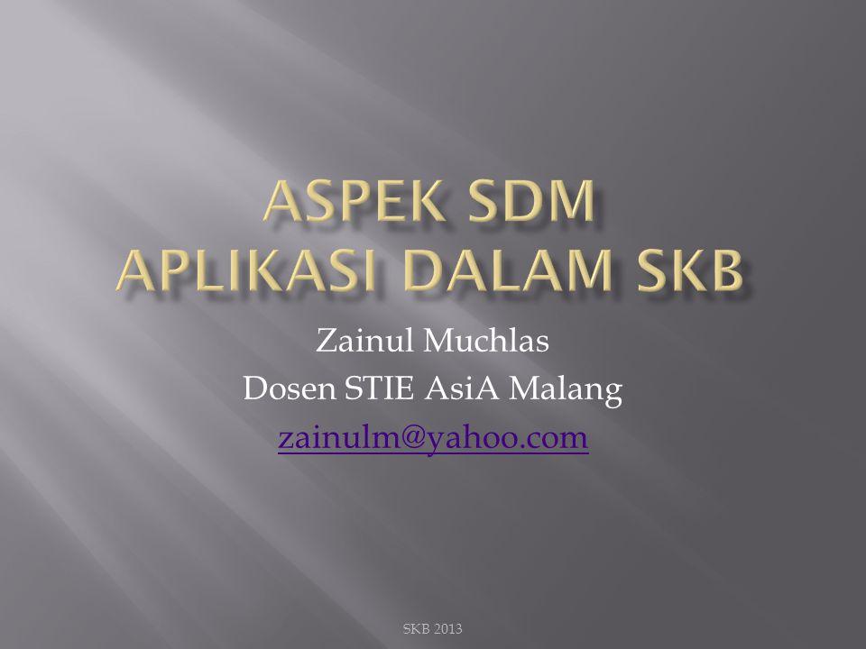 Zainul Muchlas Dosen STIE AsiA Malang zainulm@yahoo.com SKB 2013