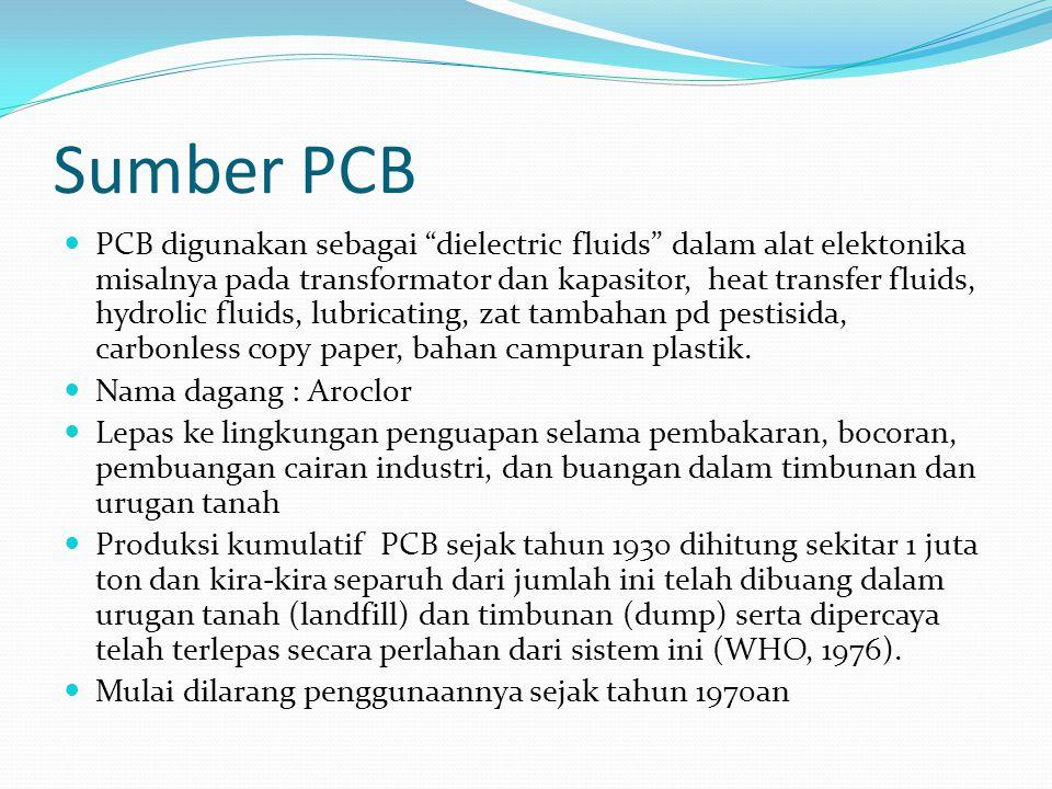 """Sumber PCB PCB digunakan sebagai """"dielectric fluids"""" dalam alat elektonika misalnya pada transformator dan kapasitor, heat transfer fluids, hydrolic f"""