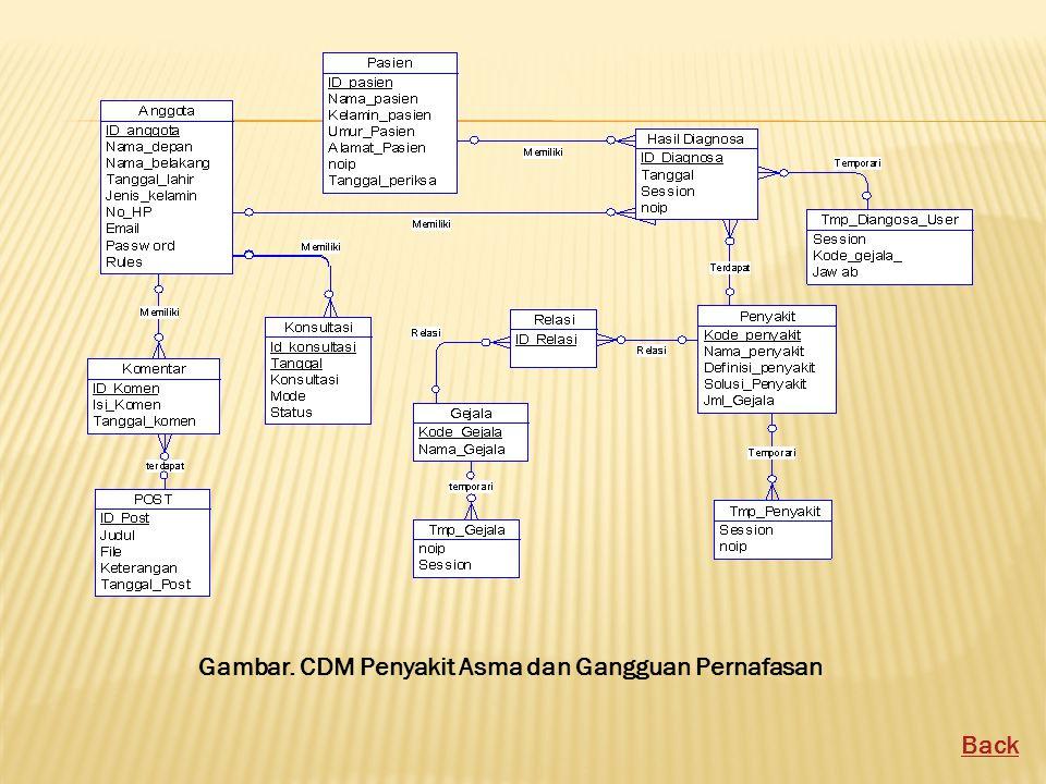 Gambar. CDM Penyakit Asma dan Gangguan Pernafasan Back