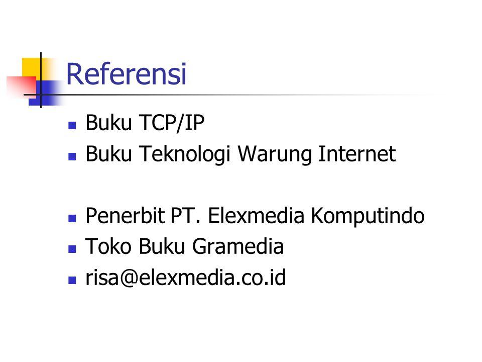 Referensi Buku TCP/IP Buku Teknologi Warung Internet Penerbit PT.