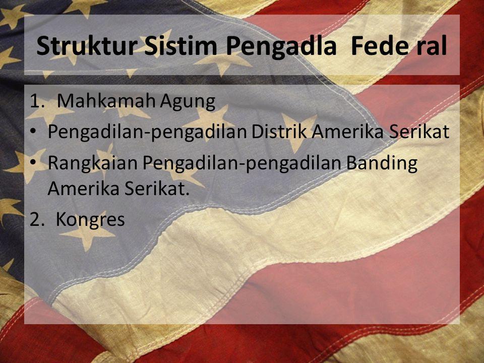 Kongres telah mewujudkan tiga buah badan- badan administrasi pemerintah di dalam cabang pengadilan.