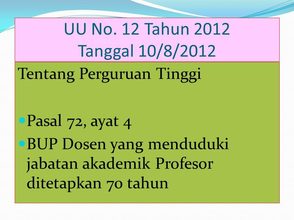 PEPPRES No. 100 tahun 2012 Tanggal 17/11/2012 Tentang Tunjangan Jabatan Penliti Peneliti Madya Rp 3.000.000 Peneliti Utama Rp 5.200.000