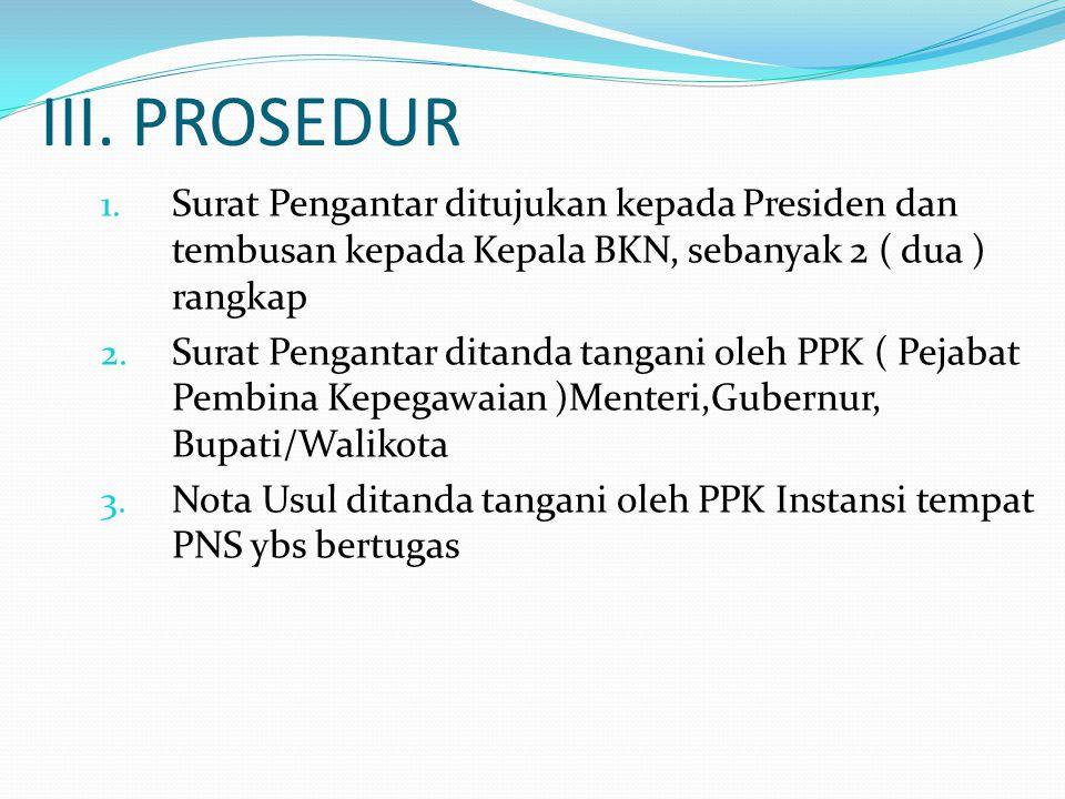 III.PROSEDUR 1.
