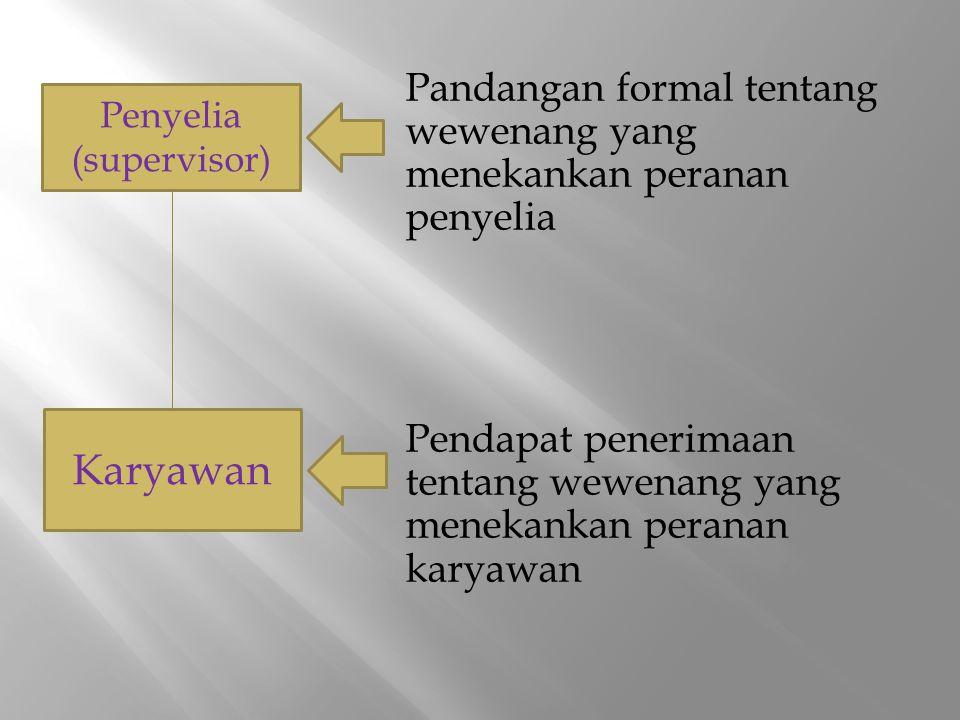 Wewenang lini (line authority) adalah wewenag dimana atasan melakukannya atas bawahannya langsung.