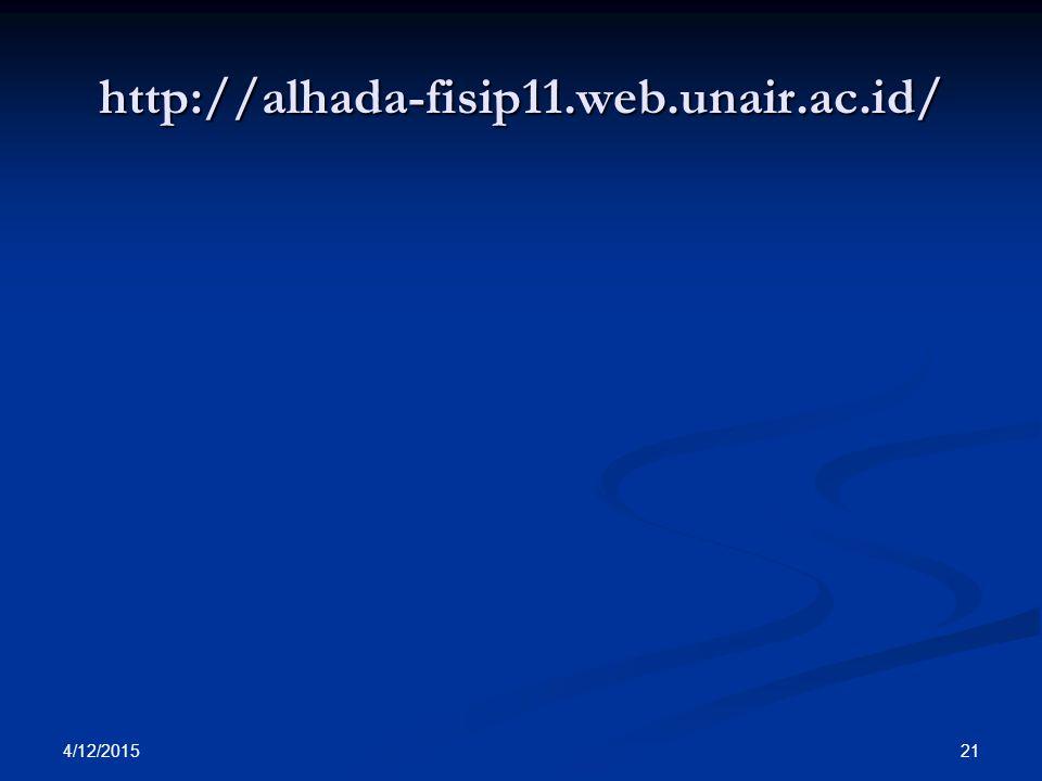 http://alhada-fisip11.web.unair.ac.id/ 4/12/2015 21