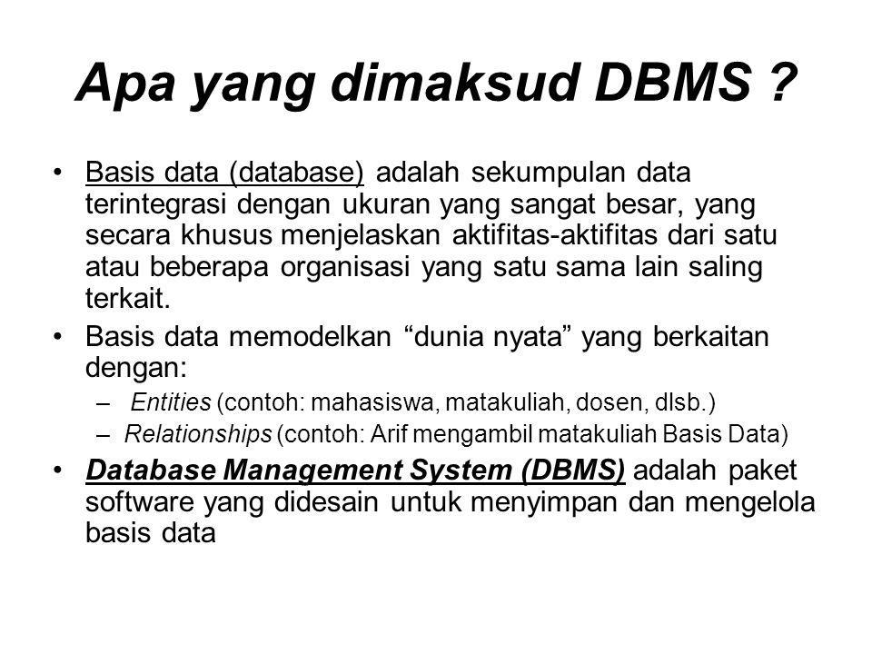 Apa yang dimaksud DBMS .