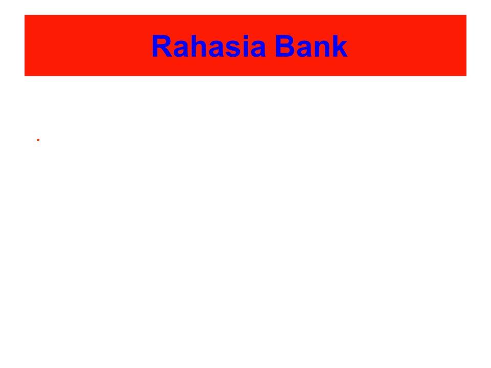 Rahasia Bank.