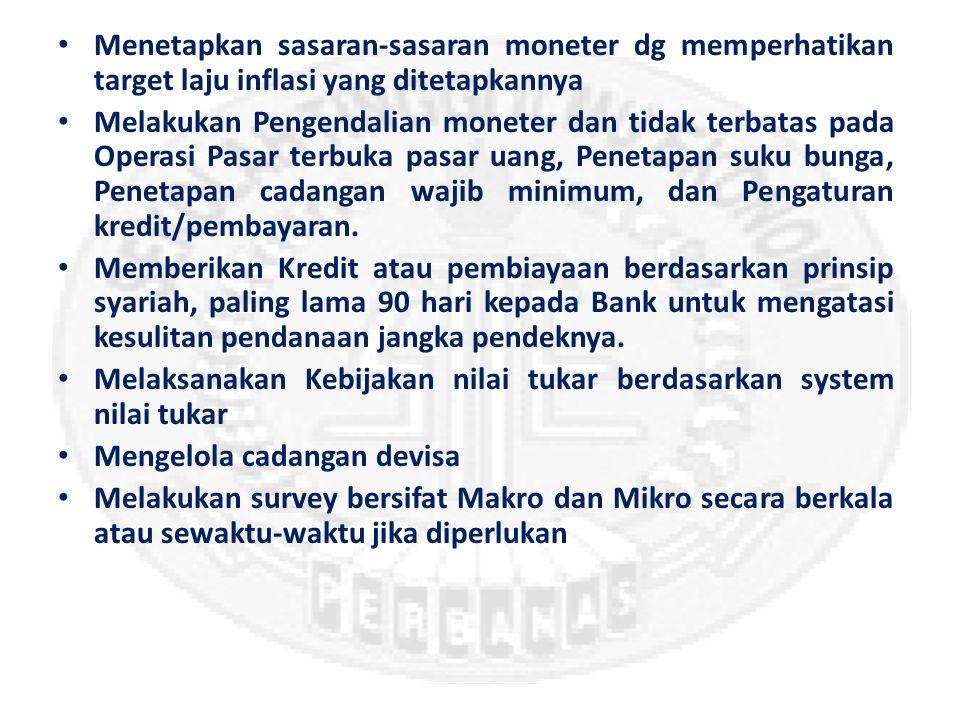Tugas dan Fungsi Bank Indonesia Menetapkan dan Melaksanakan Kebijakan Moneter (More)(More) Mengatur dan Menjaga Kelancaran Sistem Pembayaran (More)(More) Mengatur dan Mengawasi Bank (More)(More)