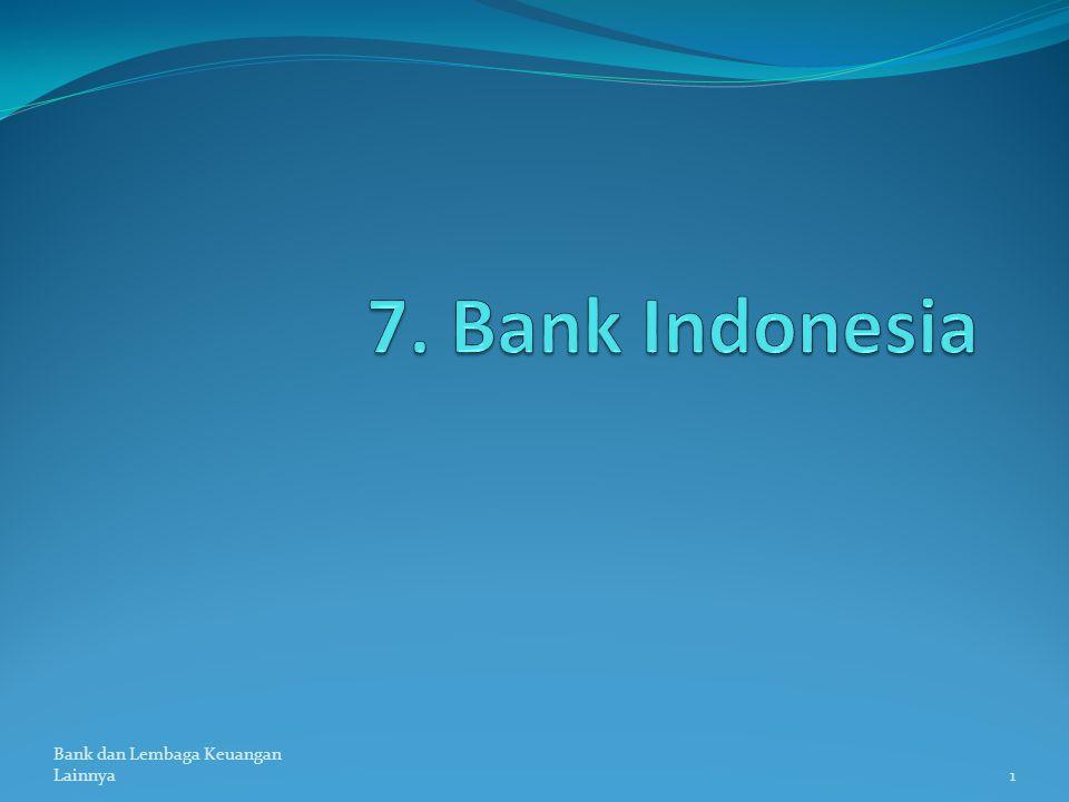 Bank dan Lembaga Keuangan Lainnya1