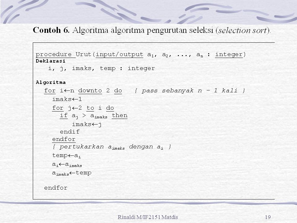 Rinaldi M/IF2151 Matdis19