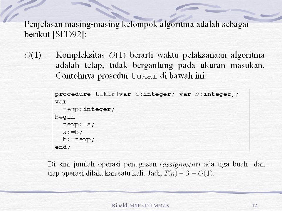 Rinaldi M/IF2151 Matdis42