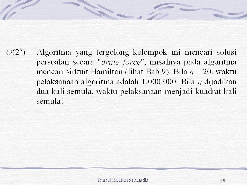 Rinaldi M/IF2151 Matdis48