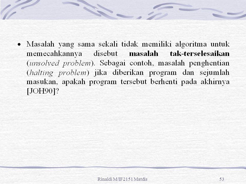 Rinaldi M/IF2151 Matdis53