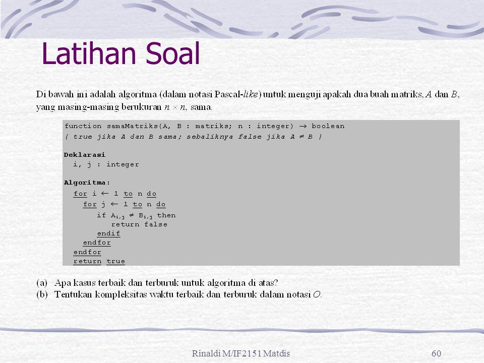 Rinaldi M/IF2151 Matdis60 Latihan Soal